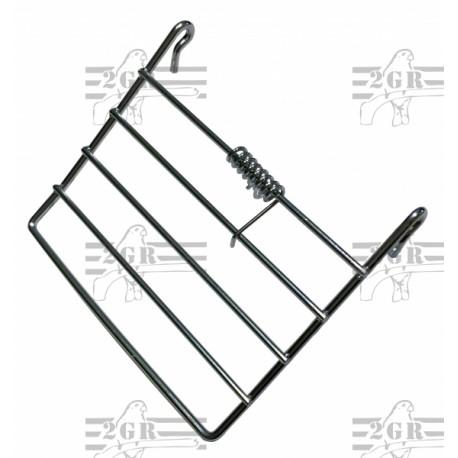 Portina in metallo con molla per gabbie 315 cm.7x6.5h